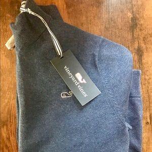 NWT! Vineyard Vines Boys 1/2 zip sweater Deep Bay